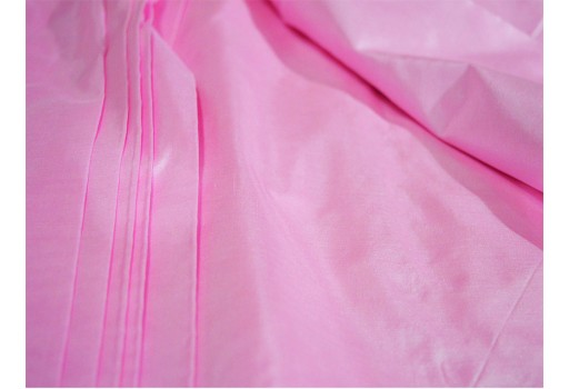 Pink Pure Silk Fabric Plain Silk Fabric