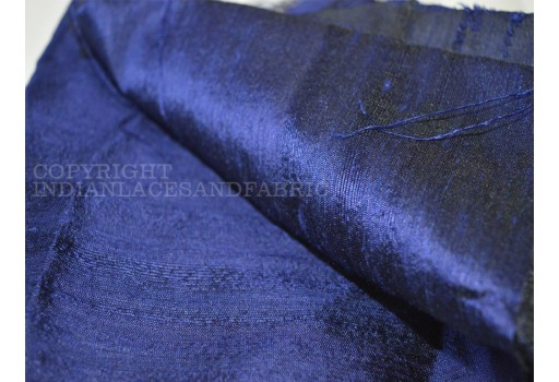 Navy Blue  Pure Dupioni Silk  raw silk fabric