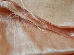 Pure Dupioni Silk fabric  raw silk fabric in Pale Peach