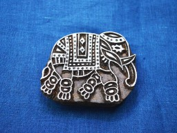 Indian Wood Block Printing Stamps Elephant Stamp