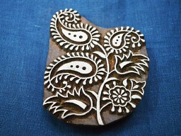 Decorative Blocks Indian Wood Block Printing Stamps Floral Stamp