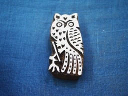 Decorative Blocks Indian Wood Block Printing Stamps Owl Stamp