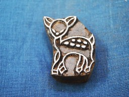 Hand Carved Indian Wood Block Little Doe Wooden Stamp