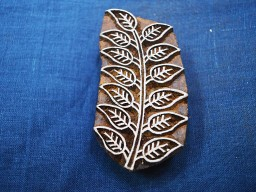 Traditional beautiful covered leaf  block print hand wood block textile printing block mixed media fabric scrap booking wooden block printing stamps for card making