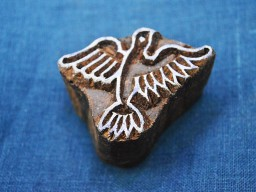 Wood Block Art Textile Printing Block Hand carved Bird Stamp