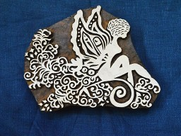 Traditional wood block art textile print hand carved pottery beautifully carved angle scrap booking cotton printing wooden stamps for fabric printing