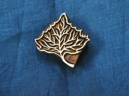 Leaf Stamp  Wooden Stamp  Hand Carved Indian Wood Block Textile Stamps