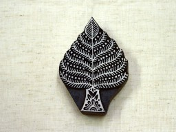 Carving work in Leaf design block Printing stamp