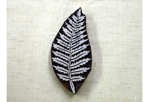 Carving work in Ferns leaf design Block Printing