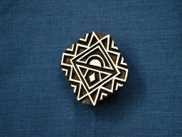 carved square shape block printing stamp