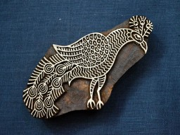 Peacock Stamp Blocks Wooden Stamps