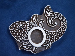 Beautiful carved Fish wooden block