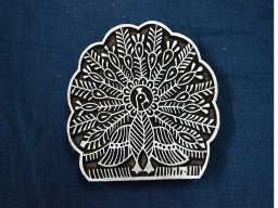 Dancing Peacock Stamp Blocks Wooden Stamps Block