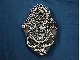 Lord Ganesha Wooden Stamp Textile Stamps