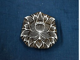 Printing Stamps Lotus Flower Stamp Wooden Printing Block