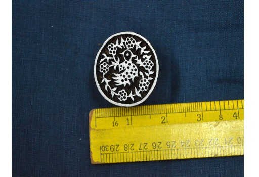 Beautiful carving work in Geometric pattern on Circular Stamp