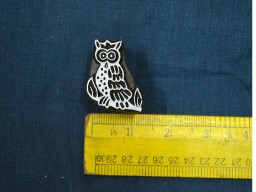 Ceramic Stamp Owl Stamp Decorative Blocks Indian
