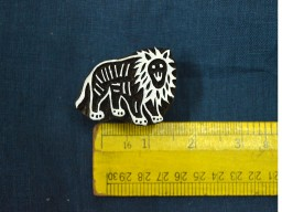 Wood Block Printing Stamps Lion Stamp
