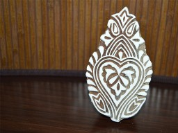 Wooden Stamp - Hand Carved Indian