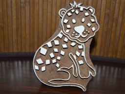 Hand Carved Indian Wood Block - Cute