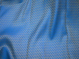 Blue Gold Jacquard fabric Brocade Fabric Art silk fabric