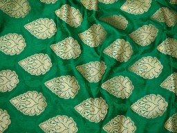 Green Banaras Fabric Brocade for Coat costume Lehenga Skrit