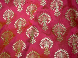 Benarasi blended silk brocade golden mandala design fabric indian wholesale magenta brocade by the yard occasion fabric curtain making material outdoor brocade online fabric hair crafting brocade tops fabric scrap booking projects brocade