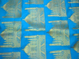 Indian fabric Wedding Dress fabric Turquoise Brocade Fabric by the Yard Banarasi Brocade Fabric Lengha Banaras Fabric crafting dress material fabric