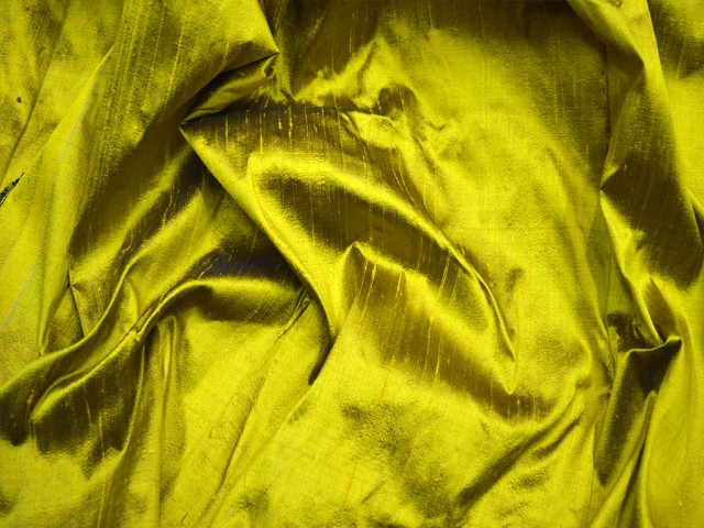 Iridescent yellow black dupioni silk fabric by the yard wedding bridesmaid dress indian raw silk crafting sewing cushion drapery home décor
