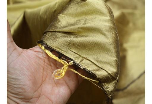 Antique Gold Dupioni Silk Fabric By the Yard Indian Silk