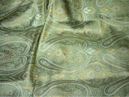 Green Brocade Fabric by the Yard for Wedding Dress Fabric