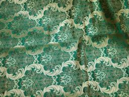 Sea Green Brocade Fabric Banarasi Brocade Fabric by the Yard Banaras Brocade Art Silk for Wedding Dress