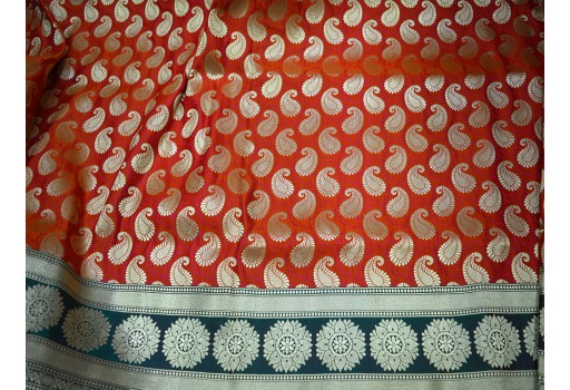 Banarasi Brocade Fabric for skirt Brocade dress material Fabric