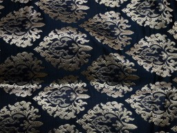 1.25 Meter Banarasi Silk Illustrate Golden Design Black Brocade Evening Dress Sewing Material Mat Making festive wear Brocade Furniture Cover Clutches Bow Tie Fabric