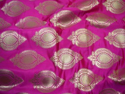 Beautiful banarasi blended silk brocade Floral design fabric