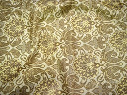 Beige Wedding Dress Brocade fabric by the yard Banarasi Brocade Fabric Bridal Dress Material Crafting Costume Sewing Fabric Curtains