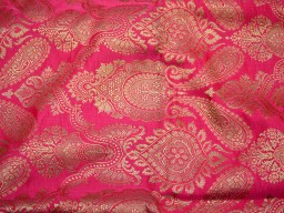Banarasi blended silk brocade golden design fabric indian wholesale carrot red brocade by the yard occasion fabric pillow cover brocade outdoor fabric hair crafting brocade tops fabric scrap booking projects brocade