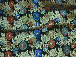 Benarasi blended silk golden floral design multi colour fabric indian wholesale black brocade by the yard doccasion fabric pillow cover brocade outdoor fabric hair crafting brocade tops fabric scrap booking projects brocade