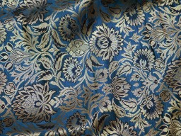 Indian silk wholesale fabric blended grey brocade by the yard headband material banarasi jacket fabric midi dress brocade golden floral design fabric bow tie making brocade online home furnishing fabric skirts