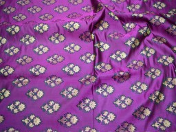 Banarasi Purple Brocade Fabric Indian Fabric Brocade Fabric by the Yard Banaras Brocade Fabric Wedding Dress fabric
