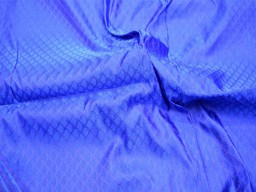 Indian Fabric Royal Blue Brocade Fabric by the yard  Jacquard Fabric for Wedding Dress Fabric for tie and bow Crafting Sewing costume
