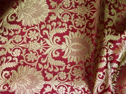 Maroon Gold Fabric Crafting sewing Costumes Lengha Skirt