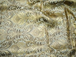Heavy banarsi blended silk brocade fabric in twin shade Wedding Dress Fabric