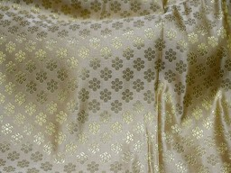 Champagne Color Brocade Fabric by the yard Wedding Dress Brocade Fabric Sewing fabric Indian Silk Bridal Dress Fabric Crafting Costume