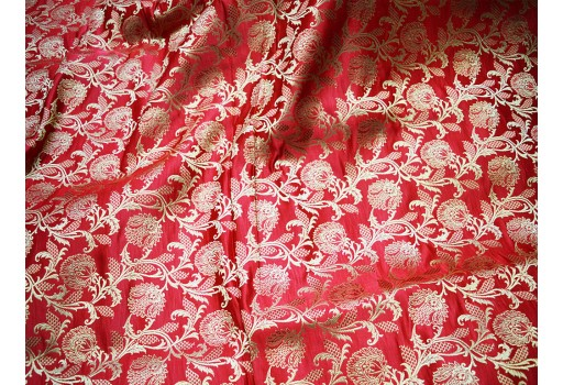 Banaras Brocade for Wedding Dress Sewing Costumes Ethnic Floral Lehenga Fabric