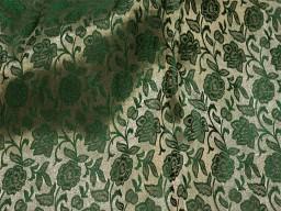Green Costume Brocade Fabric Indian Art Silk Banarasi Brocade Fabric by the Yard Wedding Dress Jacquard Fabric Cushion Covers Home Décor