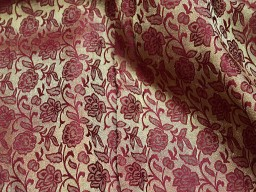 Maroon Costume Brocade Fabric Indian Art Silk Banarasi Brocade Fabric by the Yard Wedding Dress Jacquard Fabric Cushion Covers Home Décor