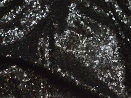 Black Georgette Sequence Wedding Dress Embroidered Fabric by the Yard Indian Sequins fabric Saree Crafting Sewing Costumes Doll Making