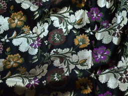 Banaras wedding dress fabric black silk brocade by the yard banarasi fabric dress material crafting sewing cushion covers home décor