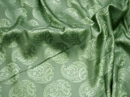 Green jacquard fabric brocade fabric by the yard for vest jacket silk fabric wedding dress bridesmaid dress sewing crafting costume